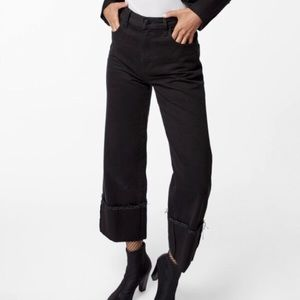 J Brand Joan Cropped High-Rise, Wide-Leg Jeans